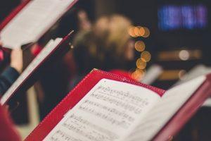 Chor mit Noten