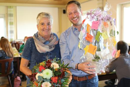 Rektor Axel Lehn mit Conny Klein